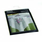 Stitch Garden Stamped Cross Stitch Tablecloth Kit Roses