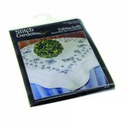 Stitch Garden Stamped Cross Stitch Tablecloth Kit Cornflowers