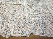 Nadia Embroidered Guipure Couture Bridal Lace Fabric  Ivory