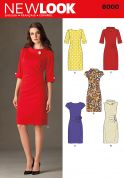 New Look Ladies Sewing Pattern 6000 Vintage Style Dresses
