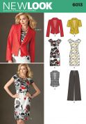 New Look Ladies Sewing Pattern 6013 Jackets, Dress, Waistcoat & Pants