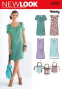 New Look Ladies Easy Sewing Pattern 6022 Dresses, Sash & Bags