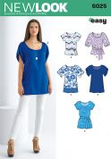 New Look Ladies Easy Sewing Pattern 6025 Tops & Tunics