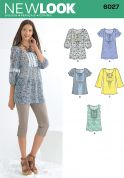 New Look Ladies Sewing Pattern 6027 Tops & Tunics