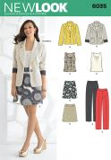 New Look Ladies Sewing Pattern 6035 Jackets, Tops, Skirt & Trouser Suit
