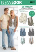 New Look Ladies & Mens Easy Learn to Sew Sewing Pattern 6036 Waistcoats