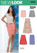 New Look Ladies Easy Sewing Pattern 6053 Skirts in 5 Variations