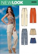 New Look Ladies Sewing Pattern 6055 Casual Trouser Pants & Shorts