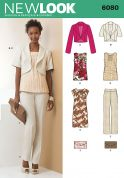New Look Ladies Sewing Pattern 6080 Jackets, Top, Dress, Pants & Clutch Bag