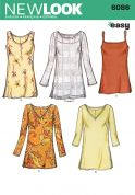 New Look Ladies Easy Sewing Pattern 6086 Simple Tunic Tops