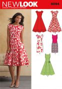 New Look Ladies Sewing Pattern 6094 Fitted, Flared & Pleated Dresses