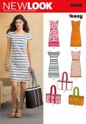 New Look Ladies Easy Sewing Pattern 6095 Fitted Dresses & Bags