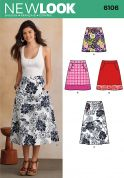 New Look Ladies Sewing Pattern 6106 A Line Skirts with Pockets