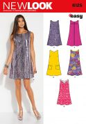 New Look Ladies Easy Sewing Pattern 6125 A Line Shift Dresses