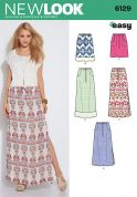 New Look Ladies Easy Sewing Pattern 6129 Drawstring Summer Skirts