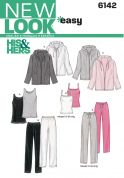 New Look Ladies Easy Sewing Pattern 6142 Tracksuit Tops, Pants & Jackets