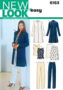 New Look Ladies Easy Sewing Pattern 6163 Jacket, Top, Skirt & Trouser Pants