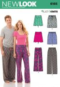 New Look Ladies & Mens Easy Sewing Pattern 6165 Casual, Skirts, Shorts & Pants