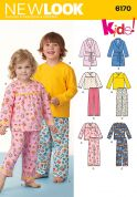 New Look Childrens Easy Sewing Pattern 6170 Pyjamas & Dressing Gown
