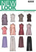 New Look Ladies Sewing Pattern 6203 Tops, Tunics, Skirts & Pants