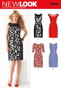 New Look Ladies Sewing Pattern 6209 Princess Seam Fitted Dresses