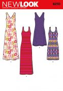 New Look Ladies Easy Sewing Pattern 6210 Tank Jersey Dresses
