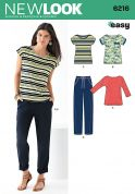 New Look Ladies Easy Sewing Pattern 6216 Casual Tops & Pants