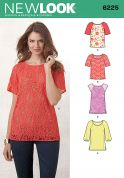 New Look Ladies Easy Sewing Pattern 6225 Tops & Tunics