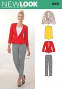 New Look Ladies Sewing Pattern 6231 Peplum Jackets, Skirt & Trouser Pants