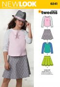 New Look Childrens Easy Sewing Pattern 6241 Tops & Skirts