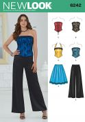 New Look Ladies Sewing Pattern 6242 Corset Tops, Skirt & Wide Leg Pants
