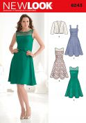 New Look Ladies Sewing Pattern 6243 Fitted Dresses & Bolero