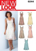 New Look Ladies Easy Sewing Pattern 6244 Panelled Dresses & Slip