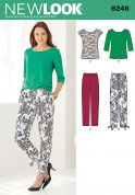 New Look Ladies Easy Sewing Pattern 6246 Knitted Tops & Cropped Pants