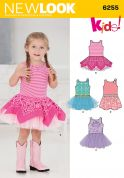 New Look Childrens Easy Sewing Pattern 6255 Tutu Dresses