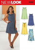 New Look Ladies Easy Sewing Pattern 6263 A Line Summer Dress