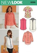 New Look Ladies Sewing Pattern 6266 Shirts & Blouse Tops