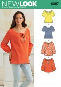 New Look Ladies Easy Sewing Pattern 6267 Loose Fit Tops & Tunics