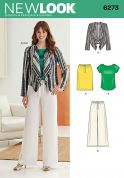 New Look Ladies Easy Sewing Pattern 6273 Waterfall Jacket, Top, Skirt & Pants