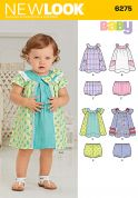 New Look Baby & Toddlers Easy Sewing Pattern 6275 Dresses & Panties