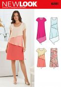 New Look Ladies Easy Sewing Pattern 6281 Plain & Layered Dresses