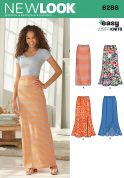 New Look Ladies Easy Sewing Pattern 6288 Stretch Knit Maxi Skirts