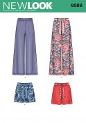 New Look Ladies Sewing Pattern 6289 Shorts & Trouser Pants