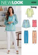 New Look Ladies Easy Sewing Pattern 6292 Casual Tops & Pants