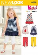 New Look Girls Easy Sewing Pattern 6295 Stretch Knit Tops & Leggings