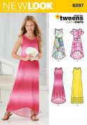 New Look Girls Easy Sewing Pattern 6297 Stretch Knit Summer Dresses