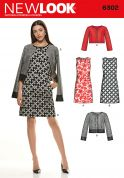 New Look Ladies Easy Sewing Pattern 6302 Shift Dresses & Cropped Jackets