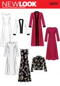 New Look Ladies Sewing Pattern 6305 Long & Short Jackets & Dresses