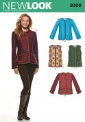 New Look Ladies Sewing Pattern 6308 Fitted Jackets & Gilets