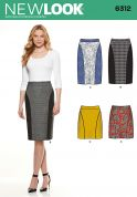 New Look Ladies Easy Sewing Pattern 6312 Pencil Skirts in 4 Styles